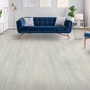 Blue couch on Laminate flooring | Floorida Floors