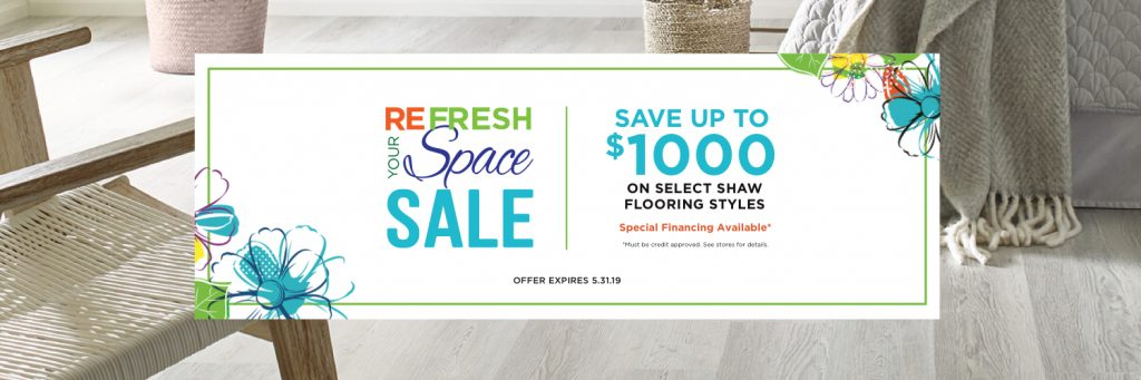 Refresh your space sale banner | Floorida Floors