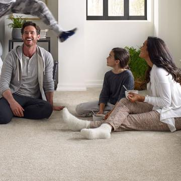 Family on Carpet floor | Floorida Floors