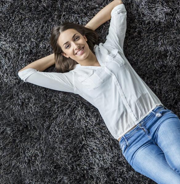 Lady on carpet | Floorida Floors