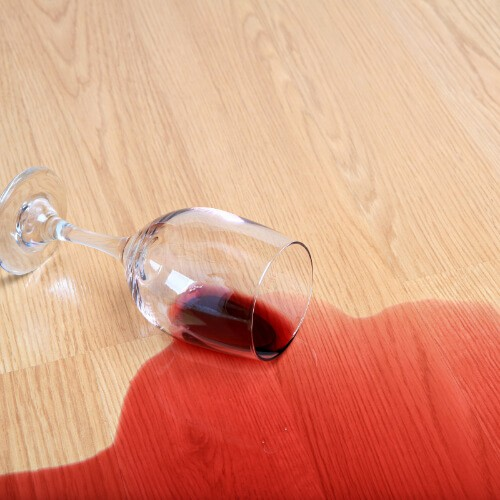 Wine spill cleaning on laminate flooring | Floorida Floors